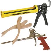 Fugepistoler, glittepinde og andet tilbehør