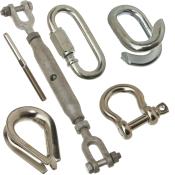 Kæde, sjækler, kovse, vantskruer etc.